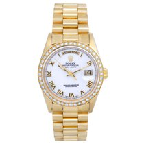 Rolex Yellow gold Automatic White Roman numerals 36mm pre-owned Day-Date 36