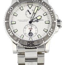 Ulysse Nardin Steel Automatic Silver 43mm pre-owned Maxi Marine Diver