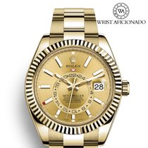 Rolex Sky-Dweller Yellow gold 42mm Champagne Arabic numerals United States of America, New York, New York