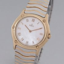 Ebel Classic Gold/Steel 26mm Mother of pearl Roman numerals