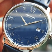 Montblanc Tradition 117829 Montblanc Tradition Automatico Data Blu 40mm 2020 new