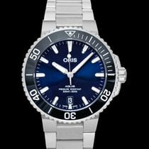 Oris Aquis Date Steel 39.5mm Blue United States of America, California, San Mateo