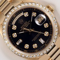 Rolex Automatic Black 36mm pre-owned Day-Date 36