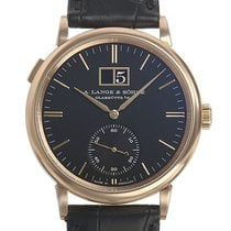 A. Lange & Söhne Red gold Automatic Black No numerals 38,5mm new Saxonia