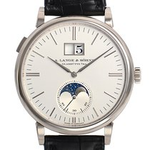 A. Lange & Söhne Saxonia White gold 40mm Silver (solid) No numerals
