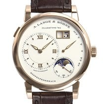 A. Lange & Söhne Red gold Manual winding Silver (solid) Roman numerals 38,5mm new Lange 1