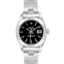 Rolex Oyster Perpetual Lady Date Acero 25mm Negro