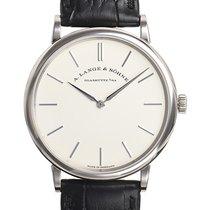 A. Lange & Söhne Saxonia neu 2021 Handaufzug Uhr mit Original-Box und Original-Papieren 201.027