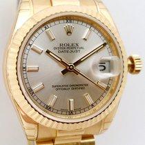 Rolex Datejust Oro amarillo 31mm Plata Sin cifras España, Huesca