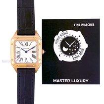 Cartier Pозовое золото Кварцевые Cеребро Римские 38mmmm новые Santos Dumont