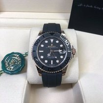 Rolex Rose gold Automatic Black No numerals 37mm new Yacht-Master 37