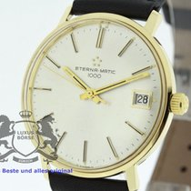 Eterna Matic Yellow gold 34.5mm Silver