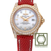 Breitling Galactic 32 Yellow gold 32mm Mother of pearl