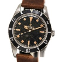 Rolex Submariner (No Date) Otel 37.5mm Negru Fara cifre