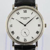 Patek Philippe White gold Manual winding White Roman numerals 33mm pre-owned Calatrava