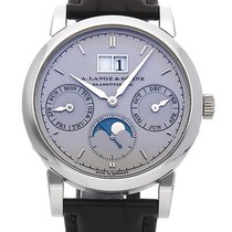A. Lange & Söhne Platinum Automatic Silver (solid) No numerals 39mm new Saxonia