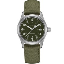 Hamilton Khaki Field Officer Steel 38mm Green United Kingdom, Chester