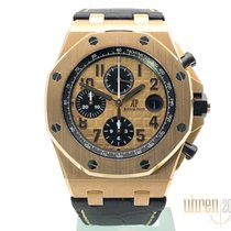 Audemars Piguet Red gold Automatic Black No numerals 42mm pre-owned Royal Oak Offshore Chronograph
