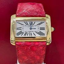 Cartier Tank Divan Yellow gold 38mm White Roman numerals