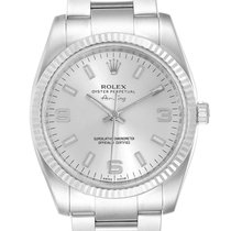 Rolex Air King Acero 34mm Plata Arábigos