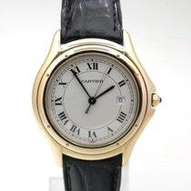 Cartier Cougar Gelbgold 33mm Weiß Römisch Deutschland, Essen