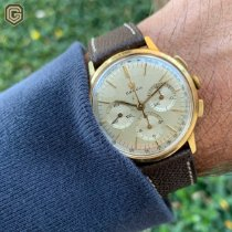 Omega Yellow gold Manual winding Champagne No numerals 35mm pre-owned