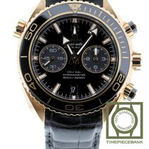 Omega Seamaster Planet Ocean Chronograph Or rouge 45.5mm Noir Arabes