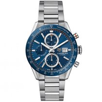 TAG Heuer Carrera Calibre 16 Steel 41mm Blue No numerals