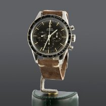 Omega Steel Manual winding Black No numerals pre-owned Speedmaster Professional Moonwatch