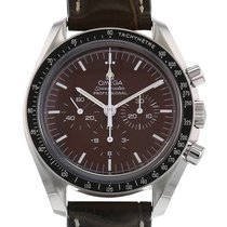 Omega Steel Manual winding Brown No numerals 42mm pre-owned Speedmaster Professional Moonwatch