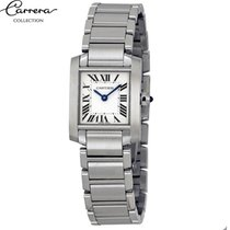 Cartier Tank Française pre-owned 20mm Silver Steel