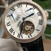 Pierre Kunz White gold Automatic Silver Roman numerals 41mm pre-owned