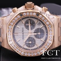 Audemars Piguet Royal Oak Offshore Lady Oro rosa 37mm Plata Sin cifras