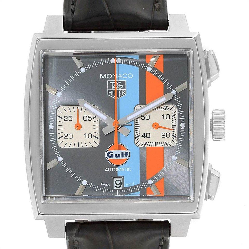 TAG Heuer Monaco Gulf Calibre 11 39mm Mens Watch CAW211R.FC6401