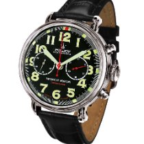 Poljot Moscow Nights Steel 43mm Black Arabic numerals