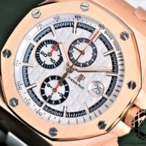 Audemars Piguet Royal Oak Offshore Chronograph Aur roz 44mm Alb Fara cifre