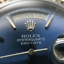 Rolex Day-Date Oysterquartz White gold 36mm Blue
