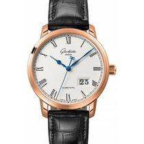 Glashütte Original Red gold Automatic Silver Roman numerals 40mm new Senator Panorama Date