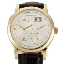 A. Lange & Söhne Yellow gold Manual winding Champagne 38mm pre-owned Lange 1
