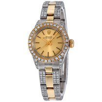 Rolex Oyster Perpetual Date Gold/Steel 26mm Champagne No numerals United States of America, New York, NEW YORK CITY