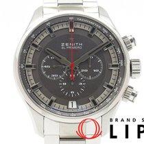Zenith El Primero Sport occasion 45mm Argent Phase lunaire Chronographe Acier