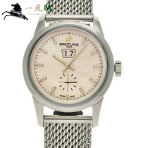 Breitling Transocean 38 Steel 38mm White