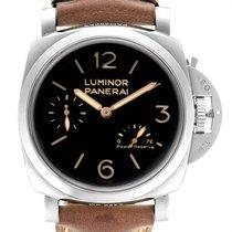 沛納海 Luminor 1950 3 Days Power Reserve 鋼 47mm 黑色 阿拉伯數字