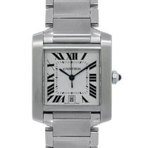 Cartier Tank Française Steel 28mm White Roman numerals United States of America, New York, NEW YORK