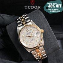 Tudor Prince Date Gold/Stahl 34mm Silber