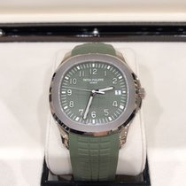 Patek Philippe White gold Automatic Green 42.2mm new Aquanaut