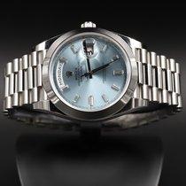 Rolex Day-Date 40 Платина 40mm Синий