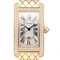 Cartier Tank Américaine Red gold Silver