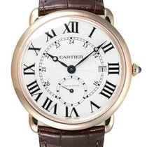 Cartier Red gold Automatic Silver 40mm new Ronde Louis Cartier