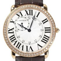 Cartier Red gold Manual winding Silver new Ronde Louis Cartier